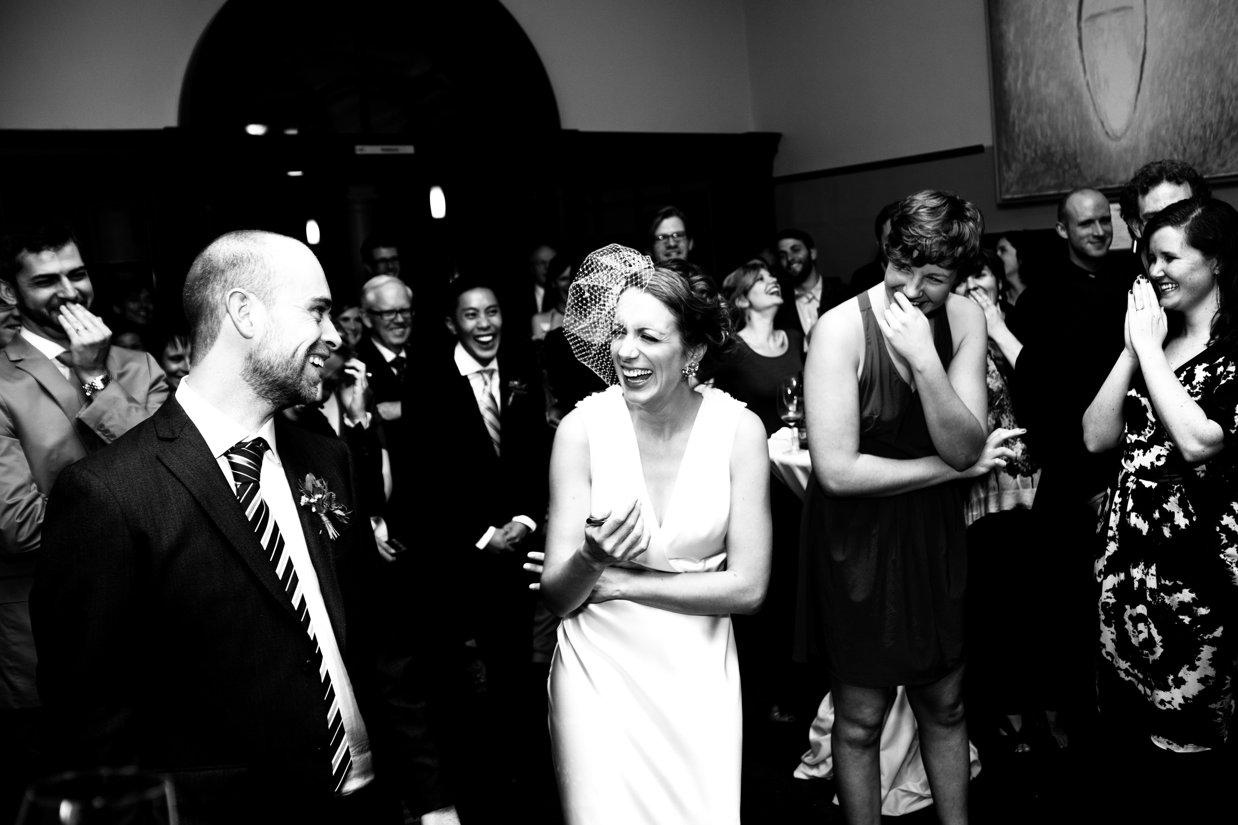 Dancing up a storm at Regis College. Wedding photographer Christopher Taylor