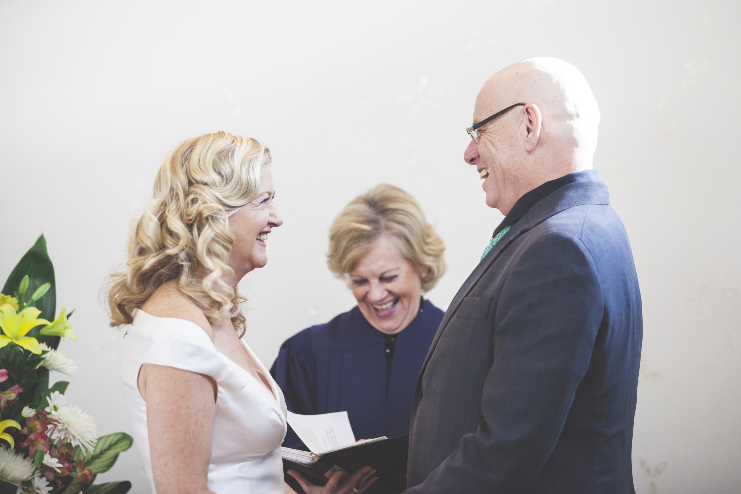 Wedding ceremony at Toronto City Hall
