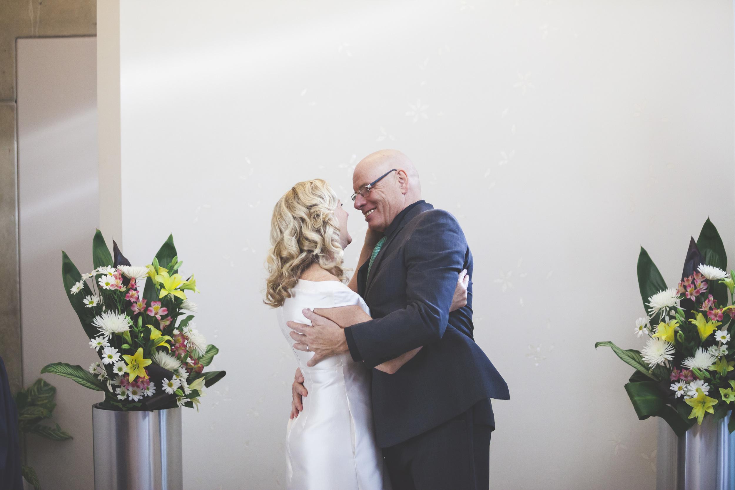 Marriage ceremony at Toronto City Hall.