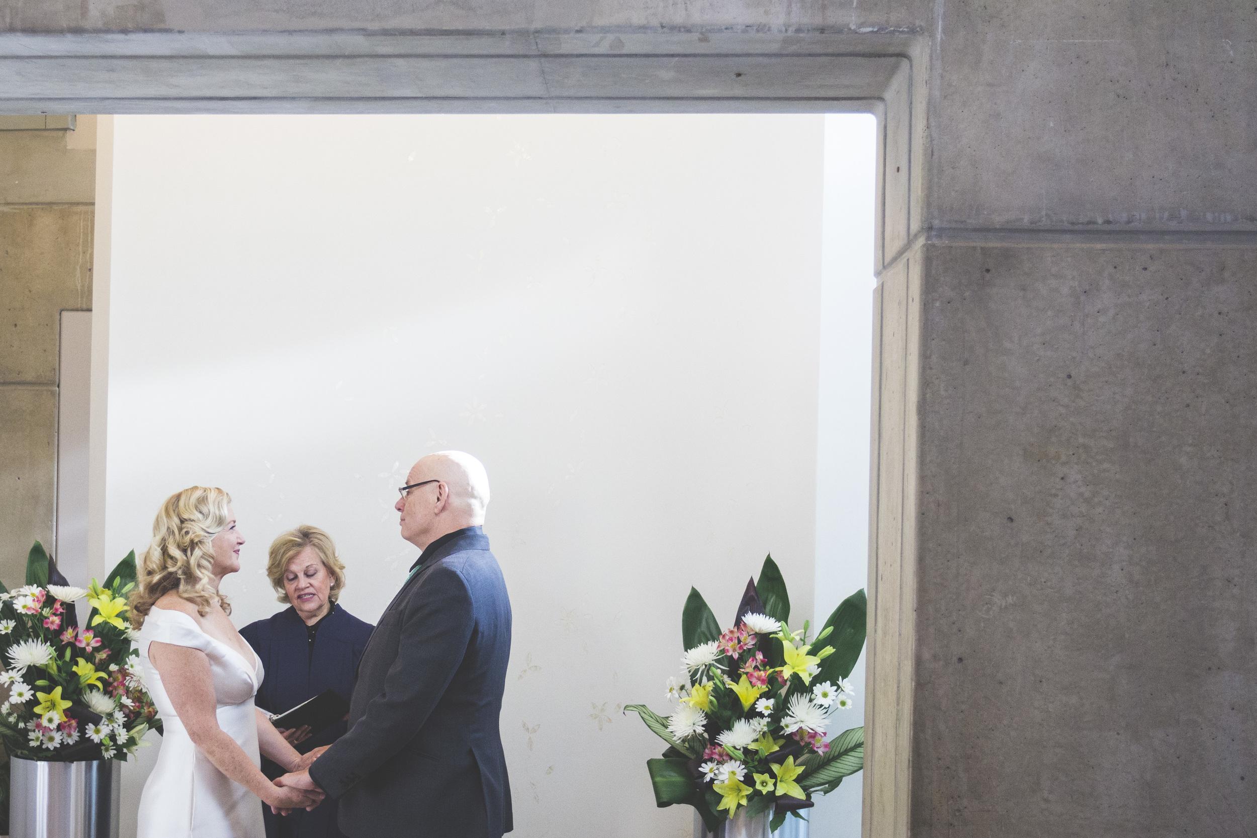 Wedding ceremony at Toronto City Hall.
