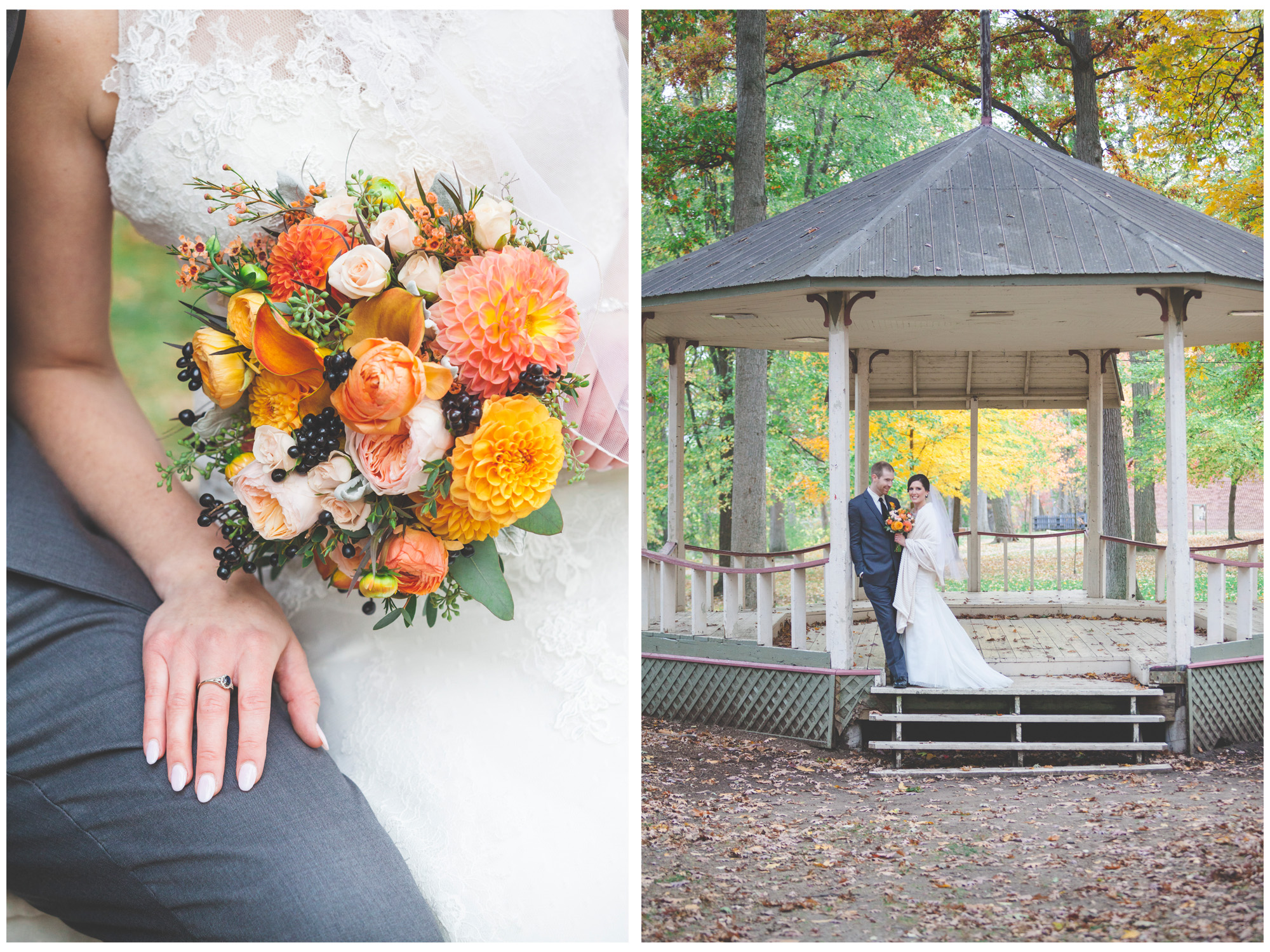 A lovely couple shot in the gazebo at Mohawk Park.