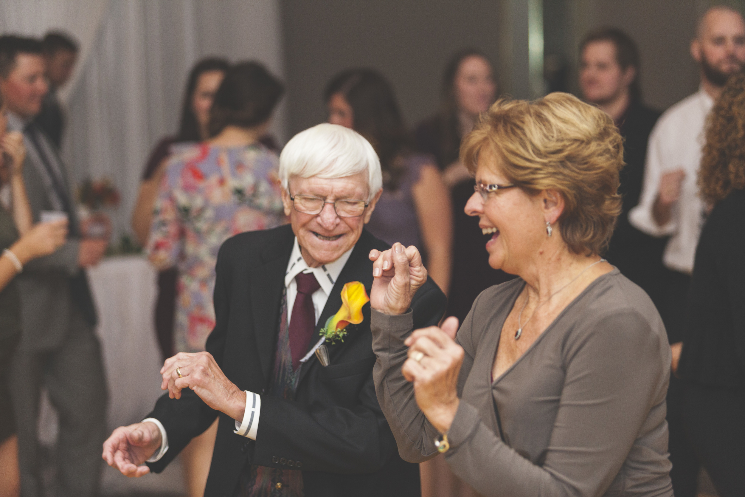 Young and old alike danced the night away at this wedding.
