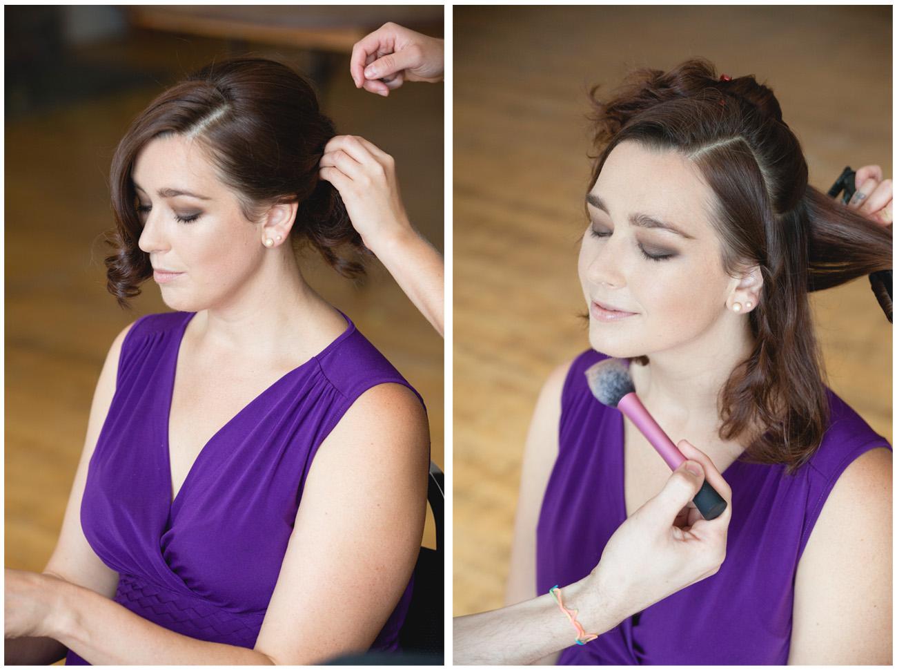 Hair and Makeup Prep Photography at the Toronto Argonaut Rowing Club