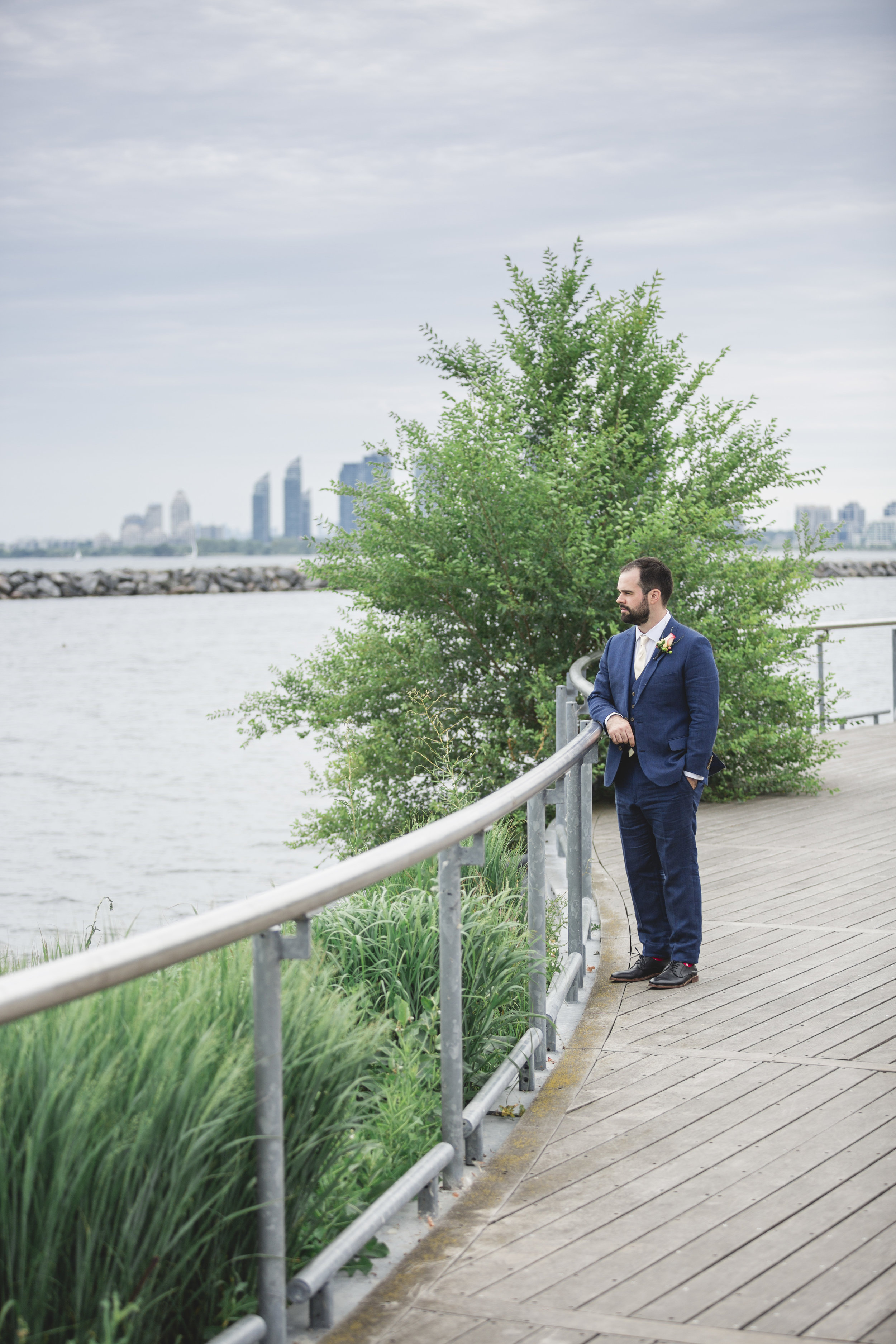 Bride and Groom First Look Photos at the Hair and Makeup Prep Photography at the Toronto Argonaut Rowing Club