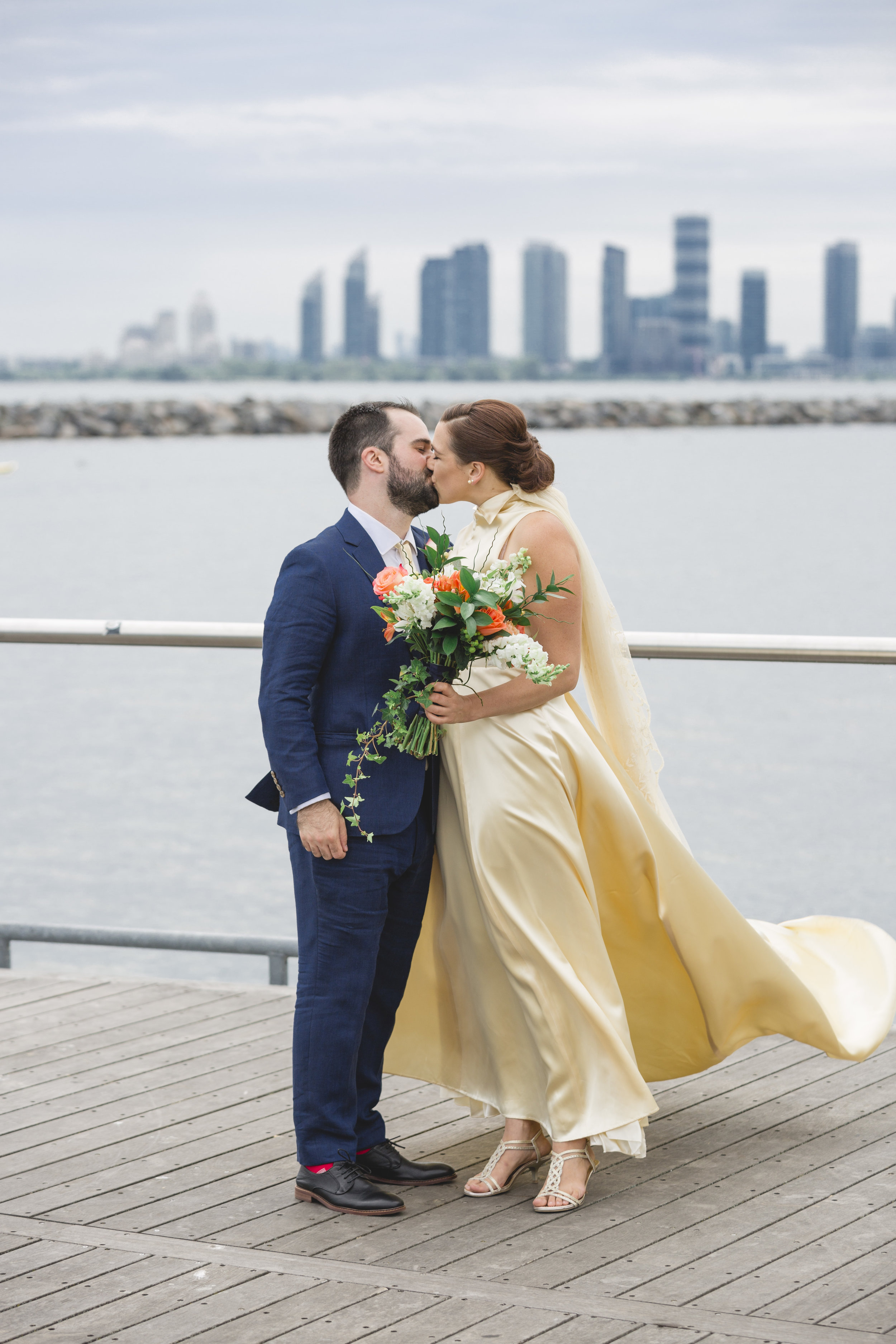 Wedding Couple at Toronto Argonaut Rowing Club