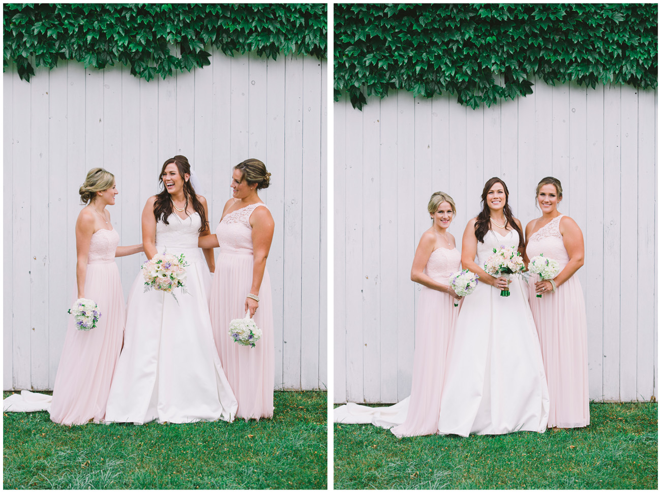 sisters of the bride laughing