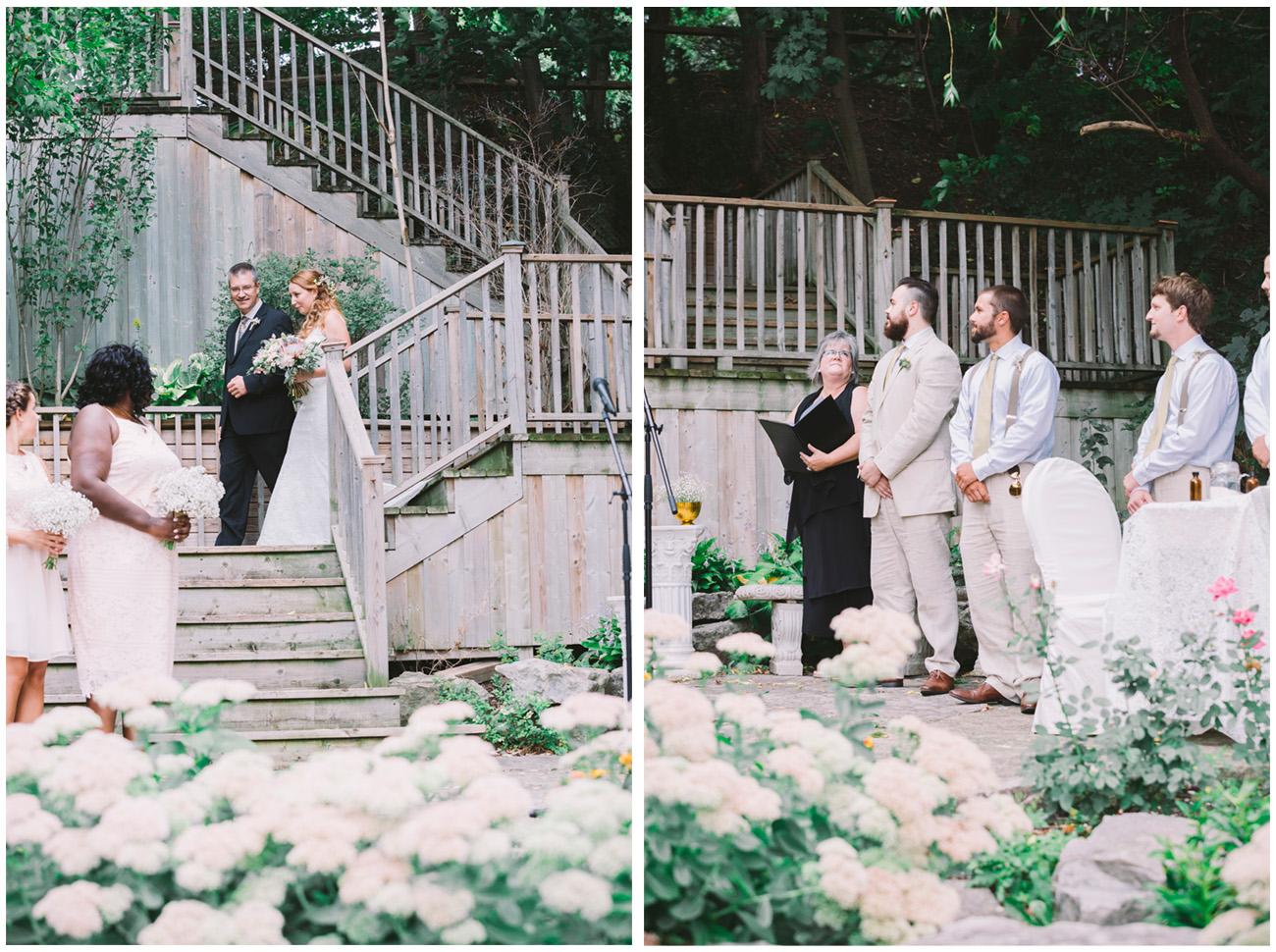 Wedding Ceremony at Fantasy Farm in Toronto
