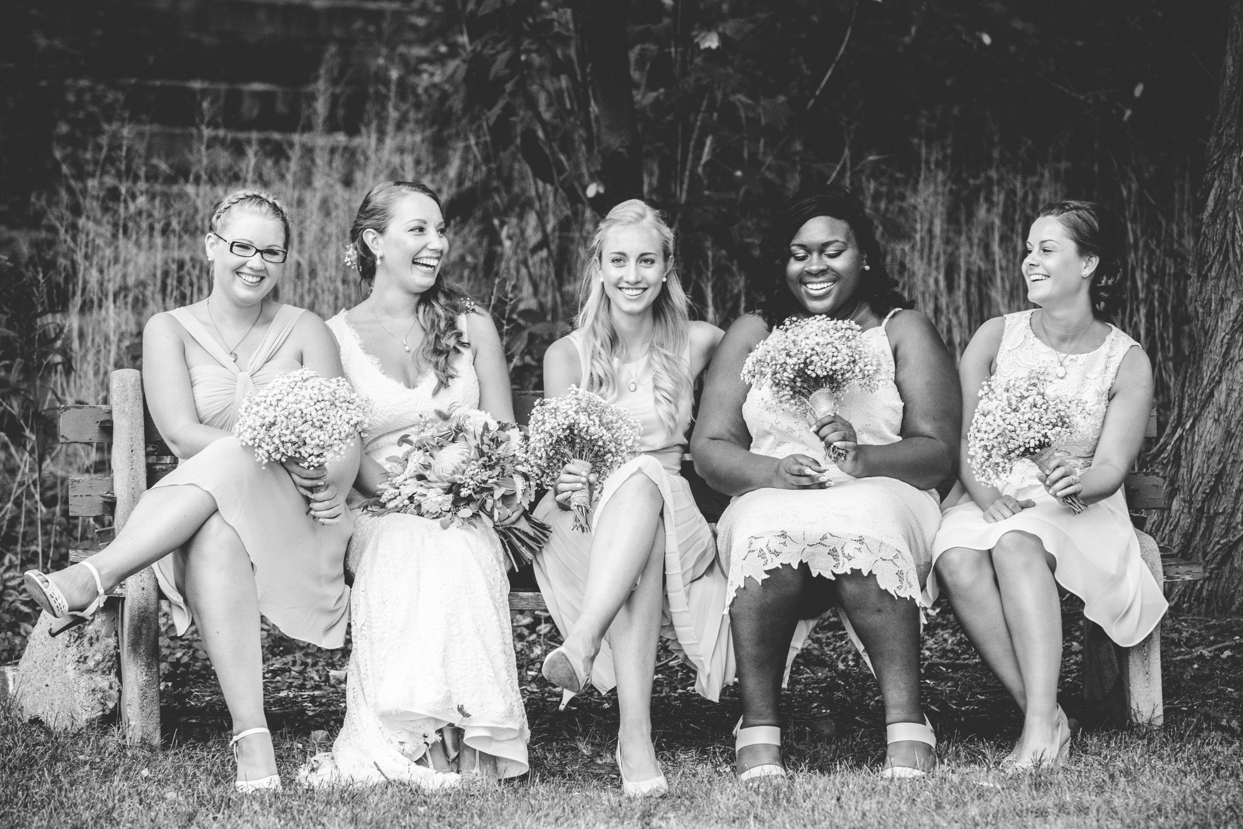 Bride and Bridesmaids at Fantasy Farm in Toronto