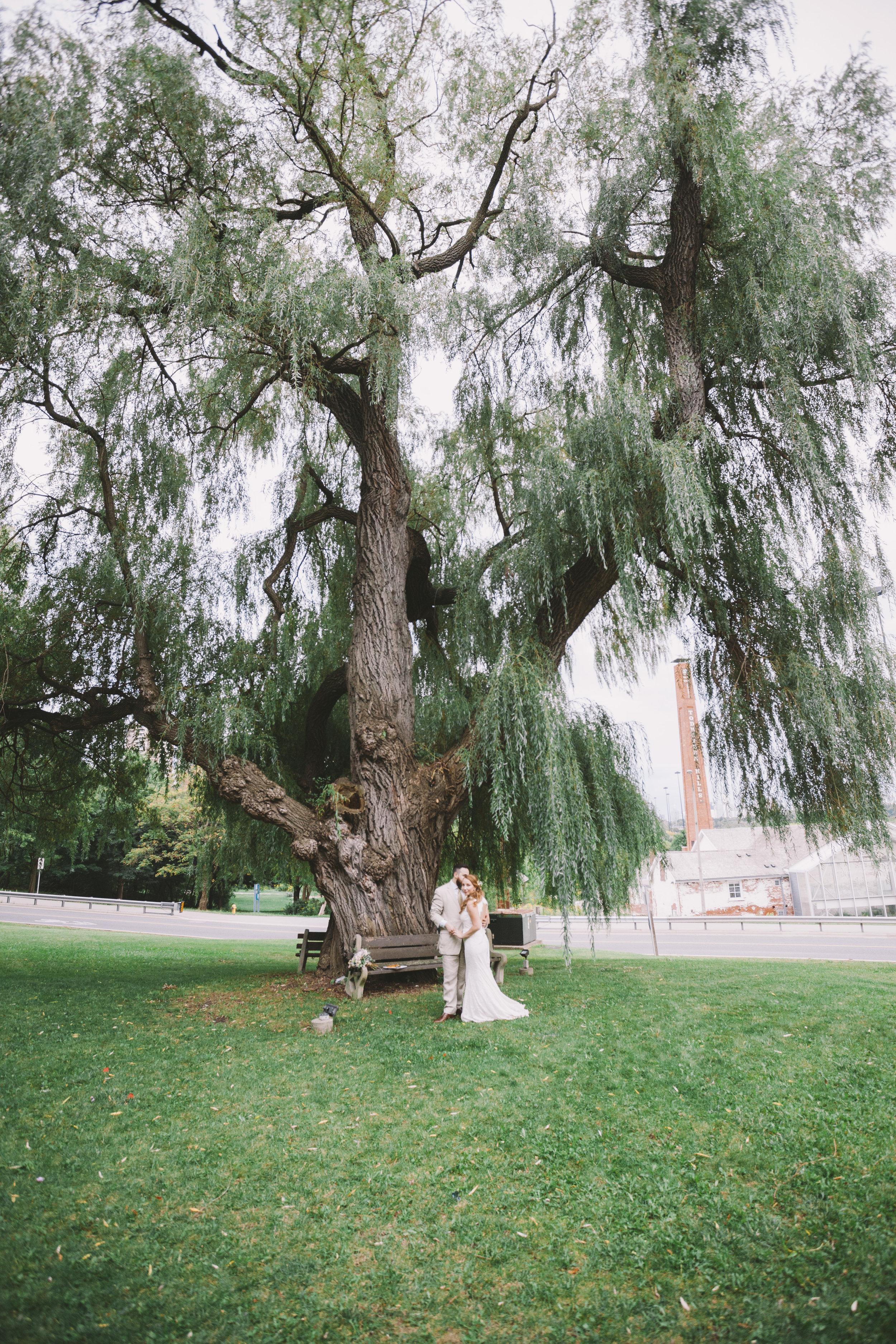 Bride and Groom Wedding Photo at Fantasy Farm