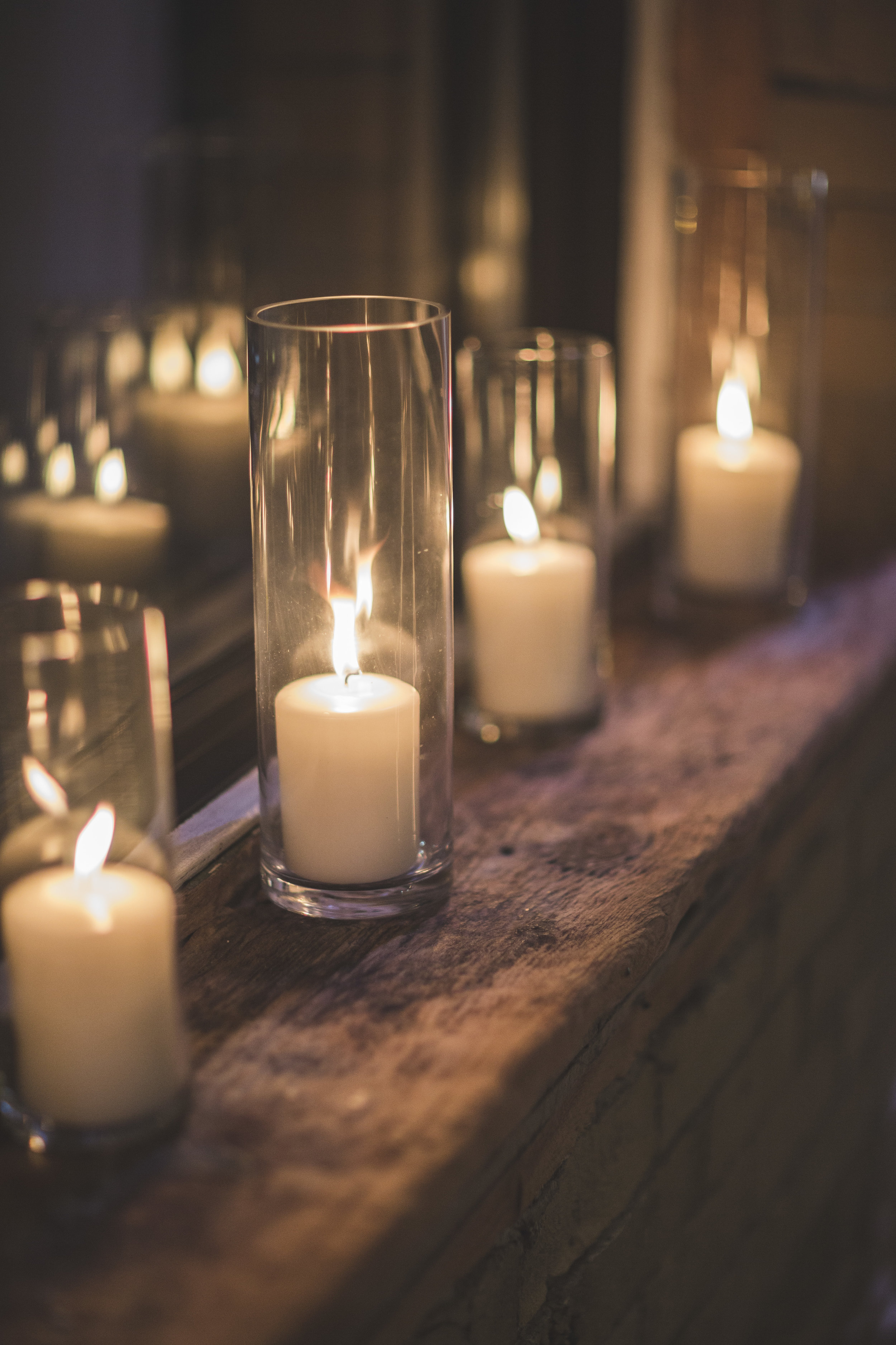 Rustic candles.
