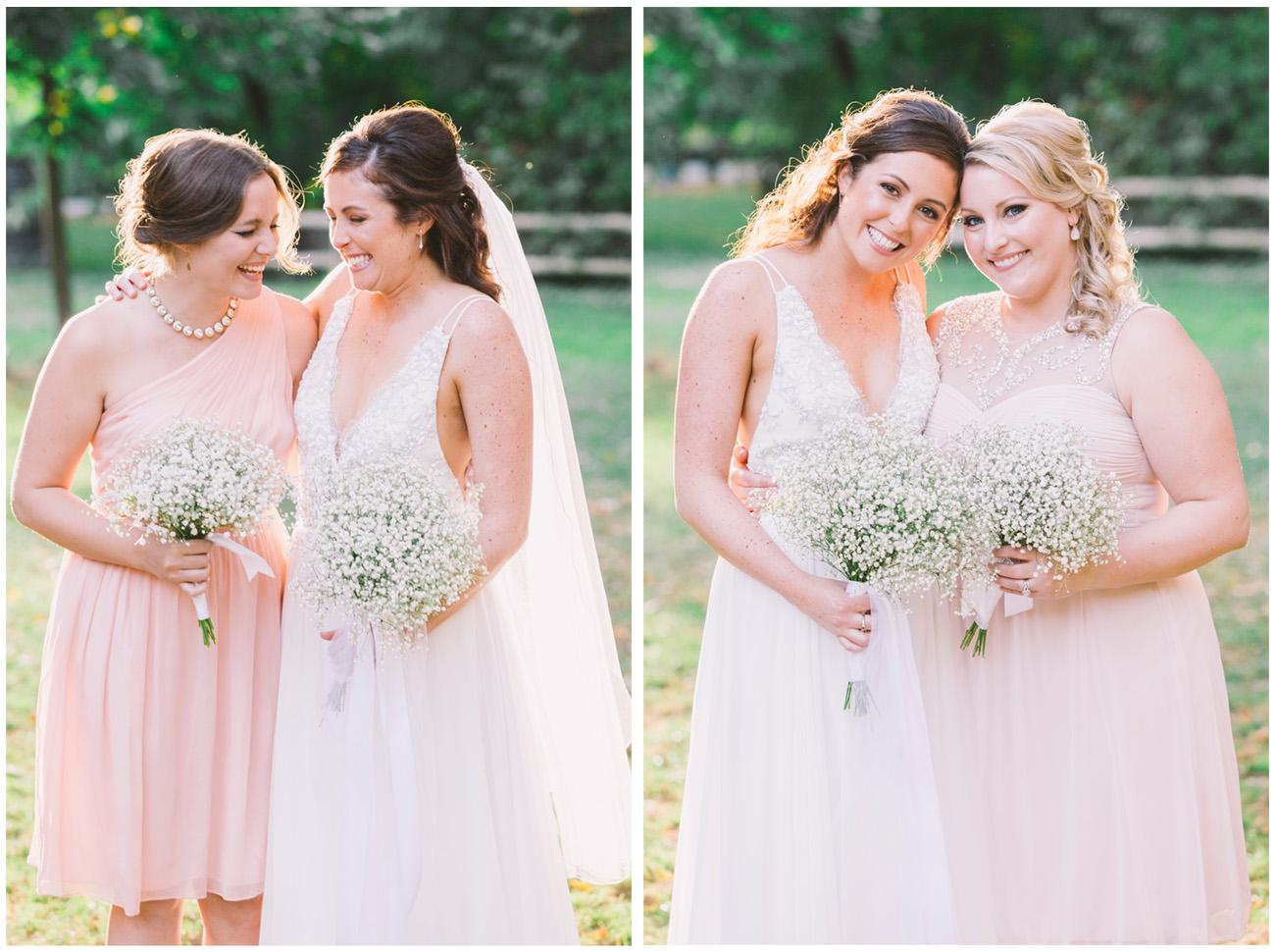 Bride and bridesmaids photos.