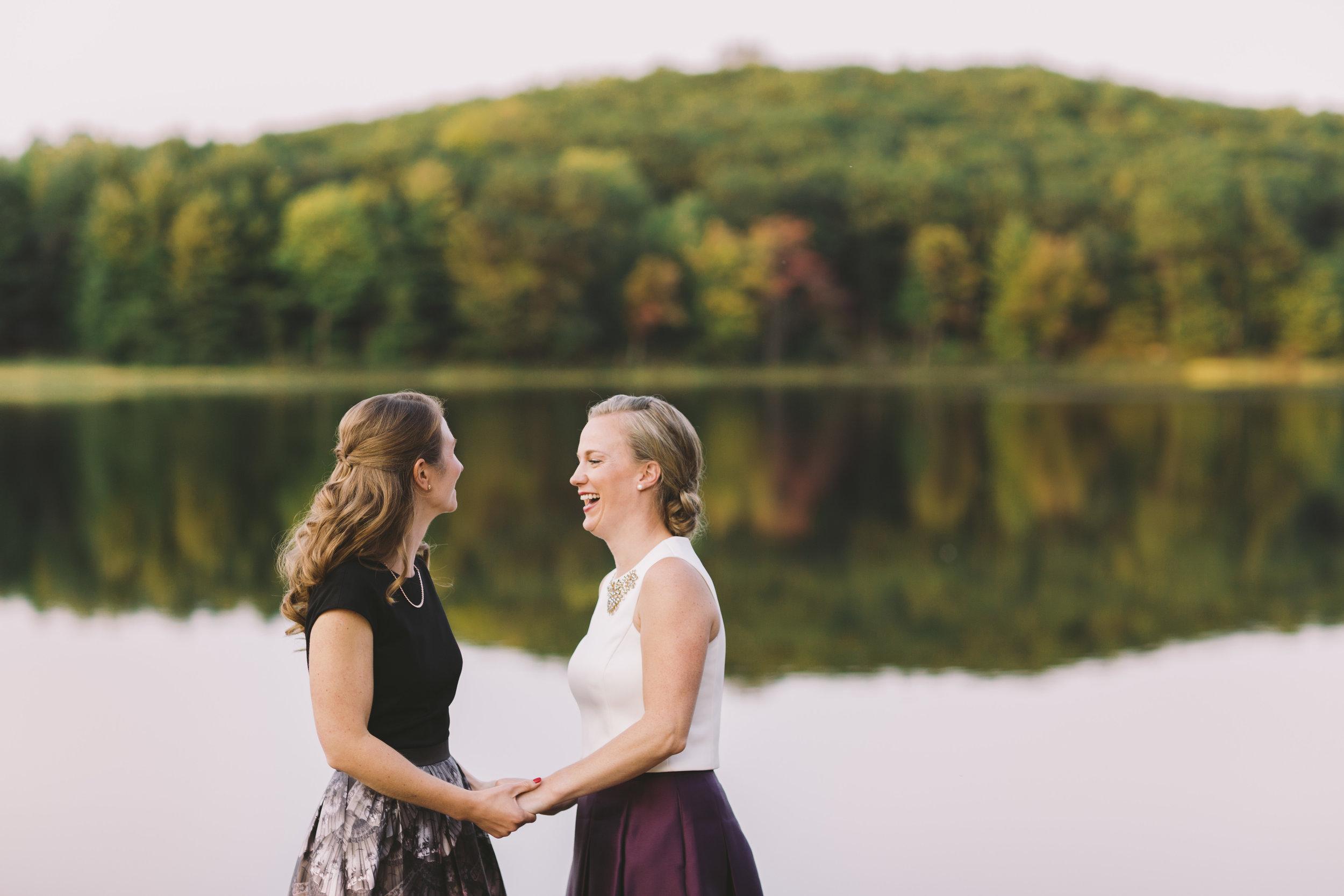Happy Couple Wedding Couple at Muskoka Lake