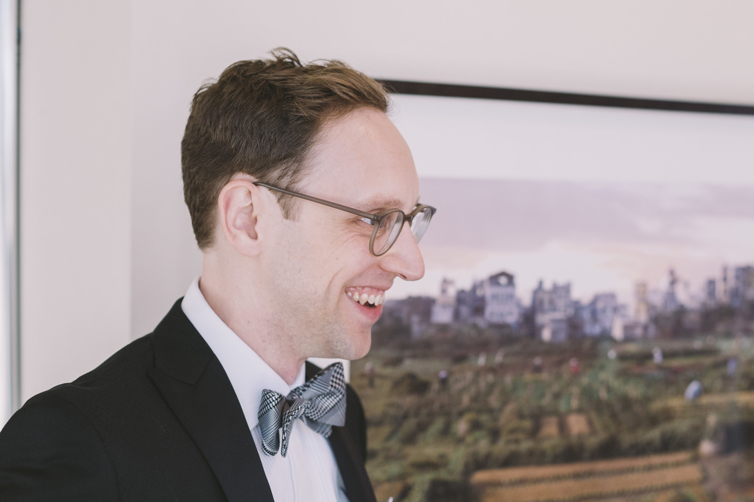 Groom's First Look Photo