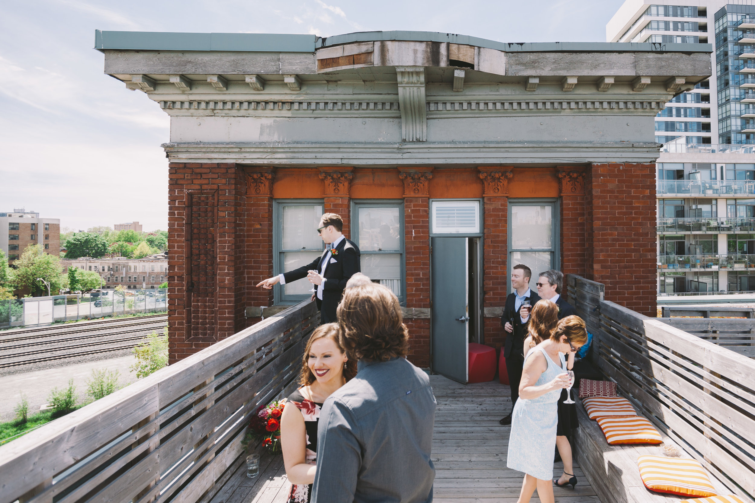 Wedding Party on the Gladstone Hotel Tower Terrace