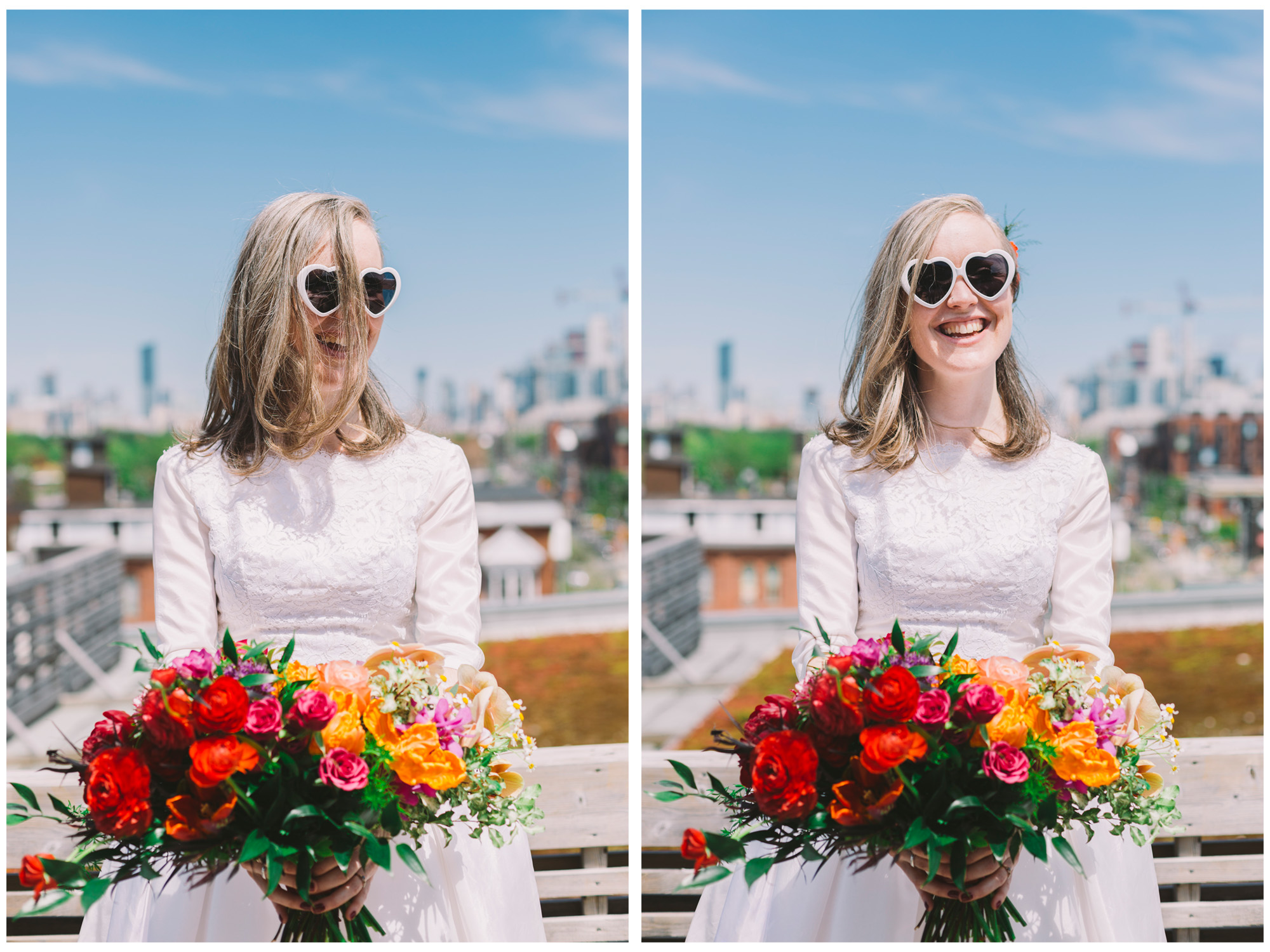Bridal Photos on the Terrace at the Gladstone Hotel