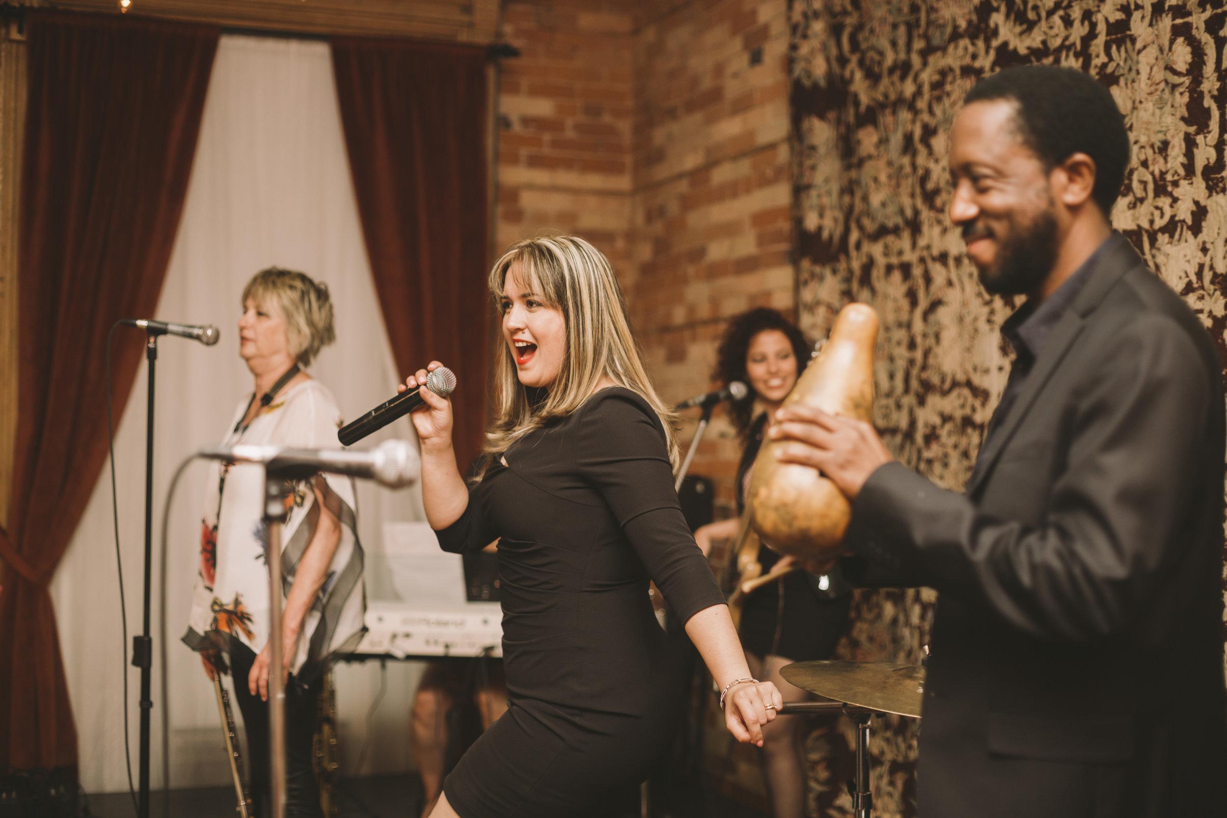 Live Cuban band at Gladstone Hotel Wedding Reception