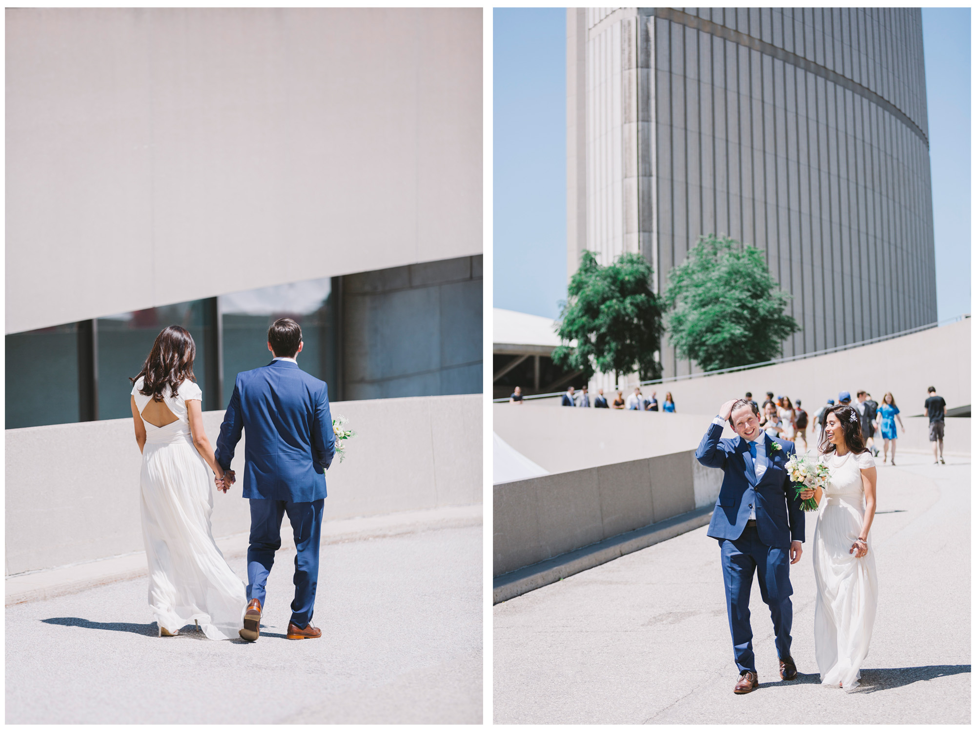 Newly weds at Toronto City Hall