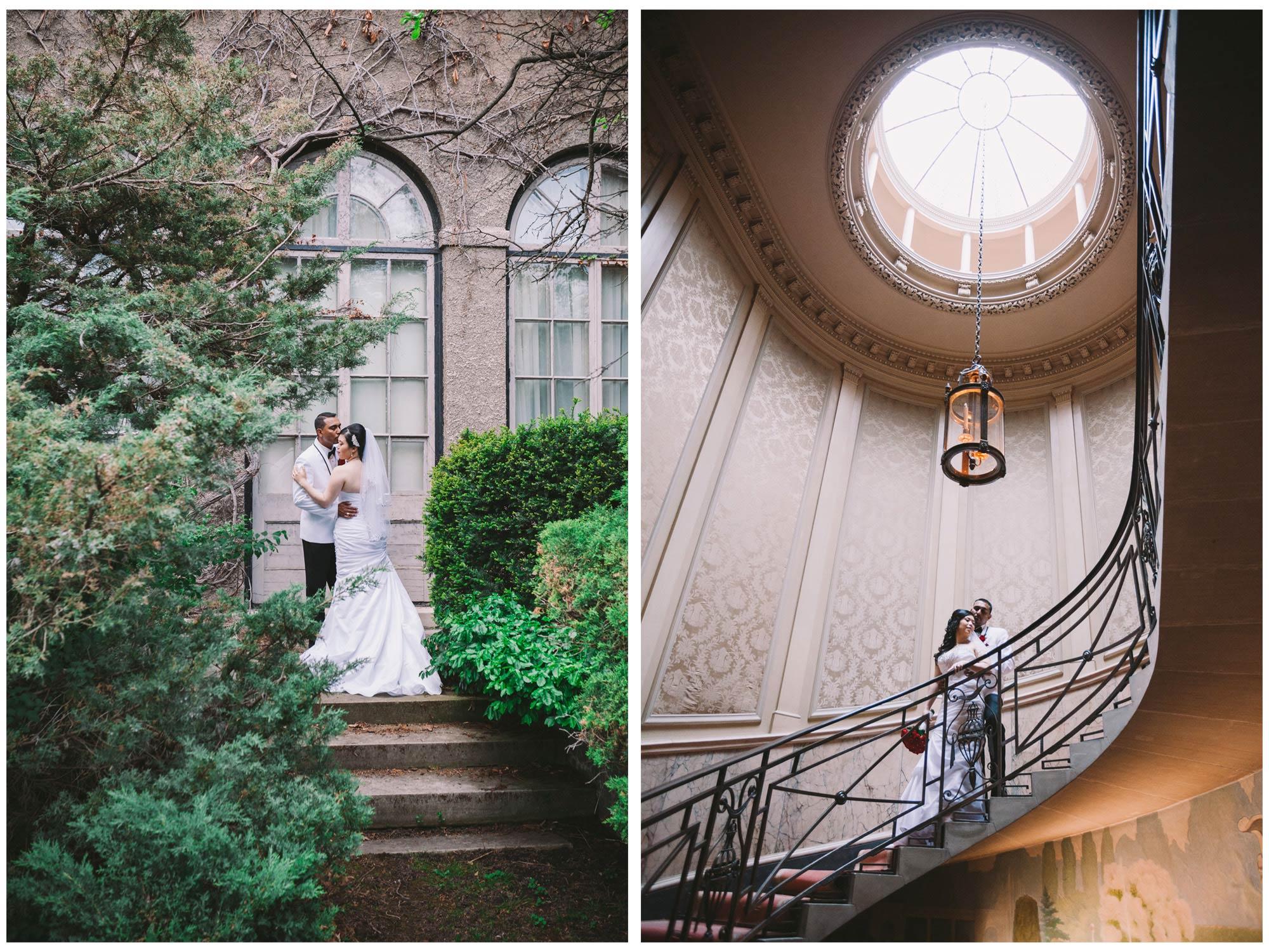 Wedding Photos inside Parkwood Estate in Oshawa