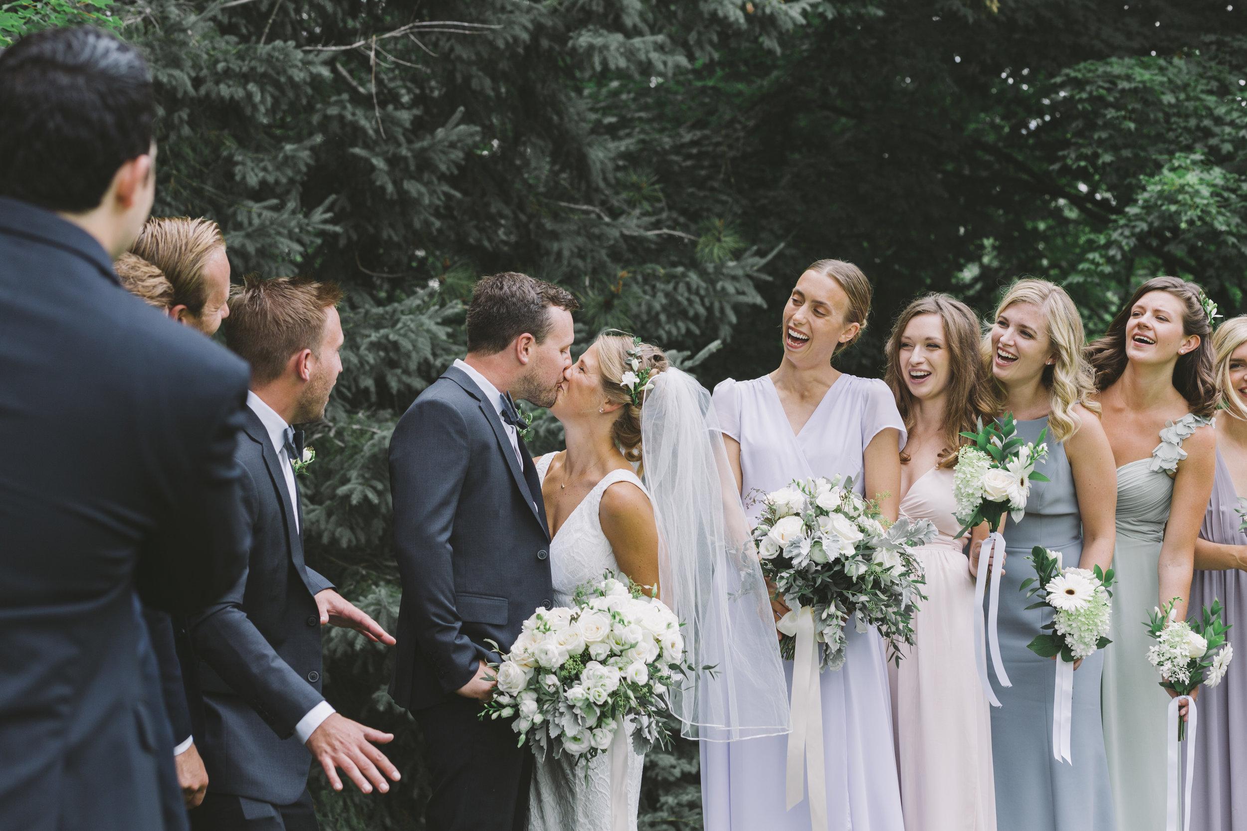 Wedding Kiss at Drysdale's Tree Farm