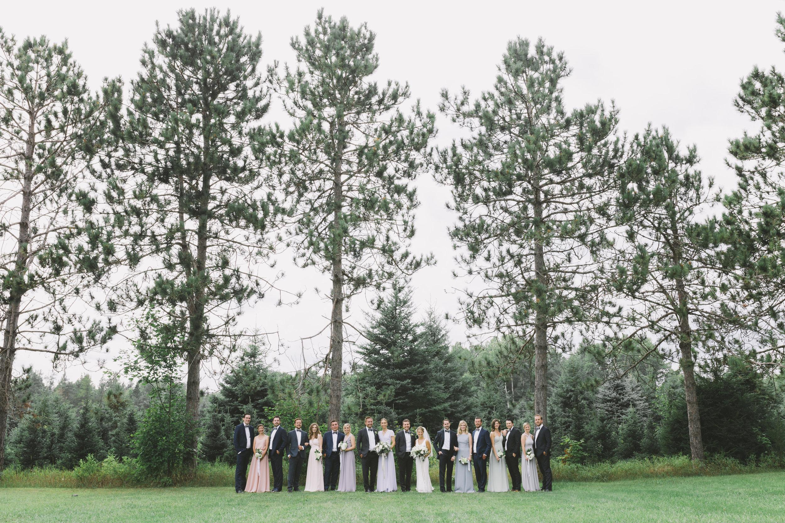 Wedding Party at Drysdale's Tree Farm