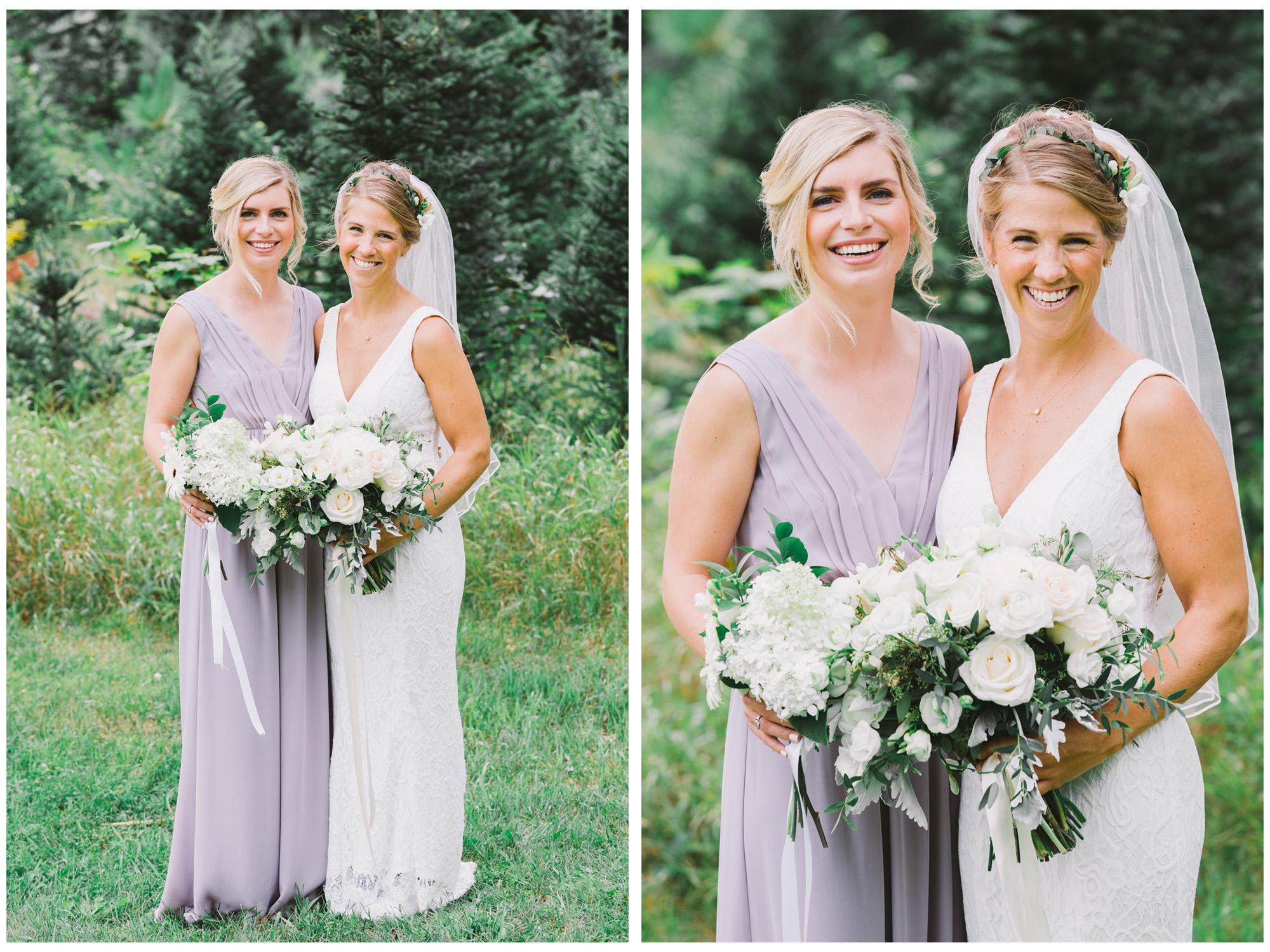 Bridesmaid Photo at Drysdale's Tree Farm