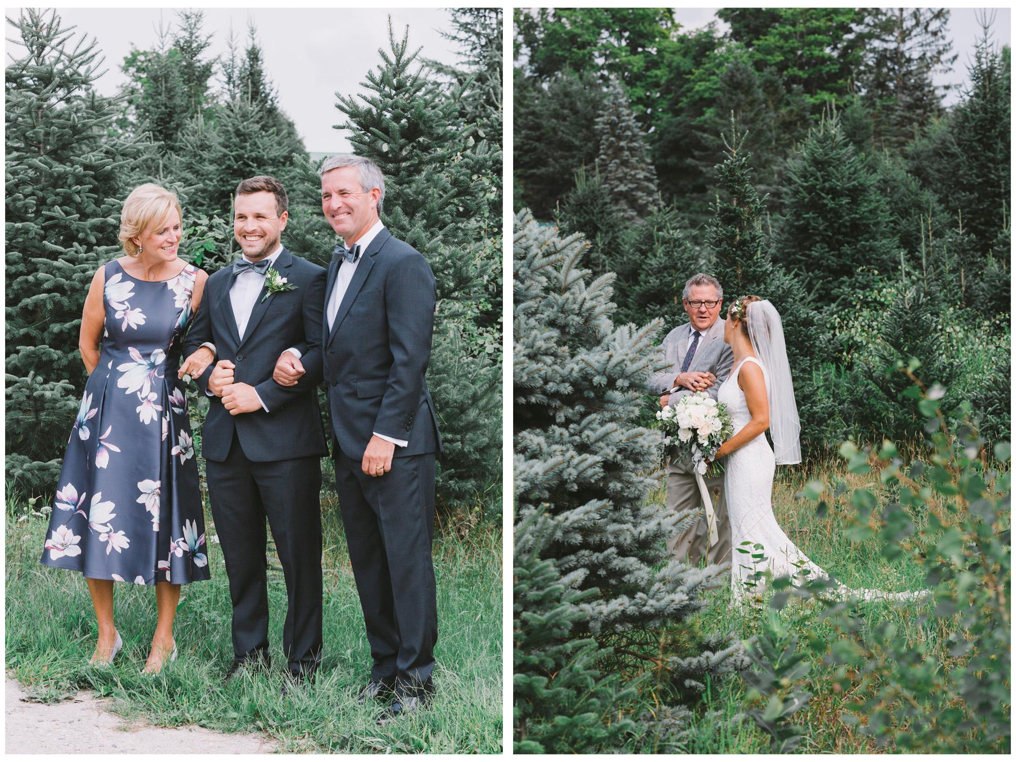Wedding Ceremony at Drysdale's Tree Farm