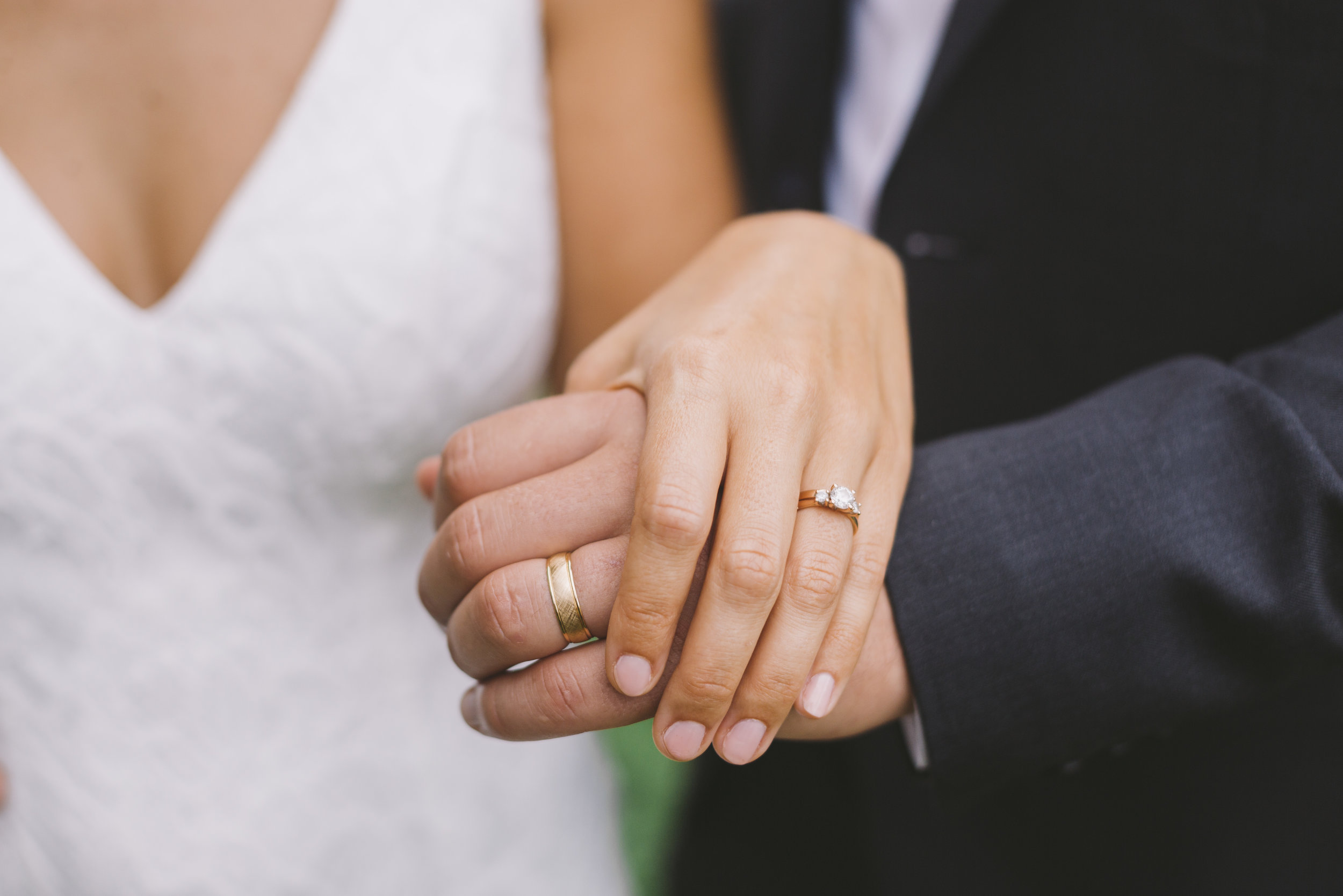 Wedding Rings from Newly Married Couple
