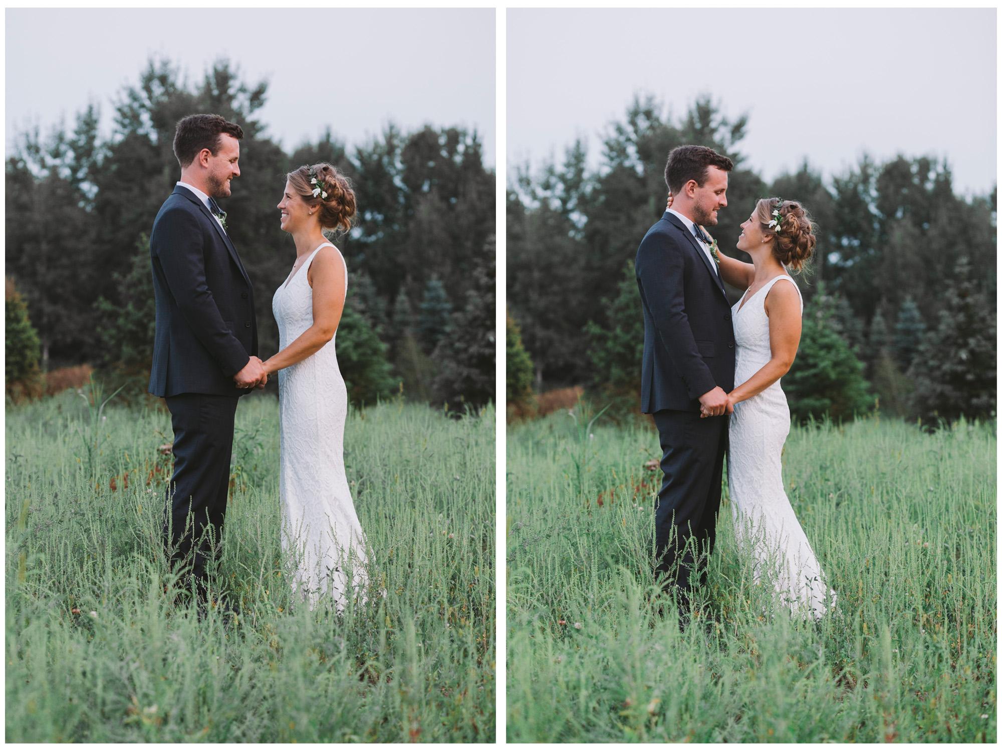 Wedding Couple Photos at Drysdale's Tree Farm