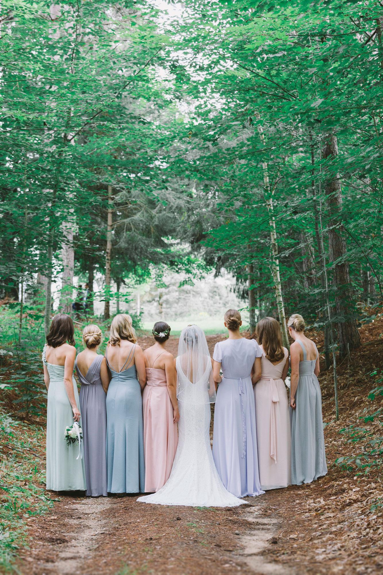 Bridesmaids at Drysdale's Tree Farm