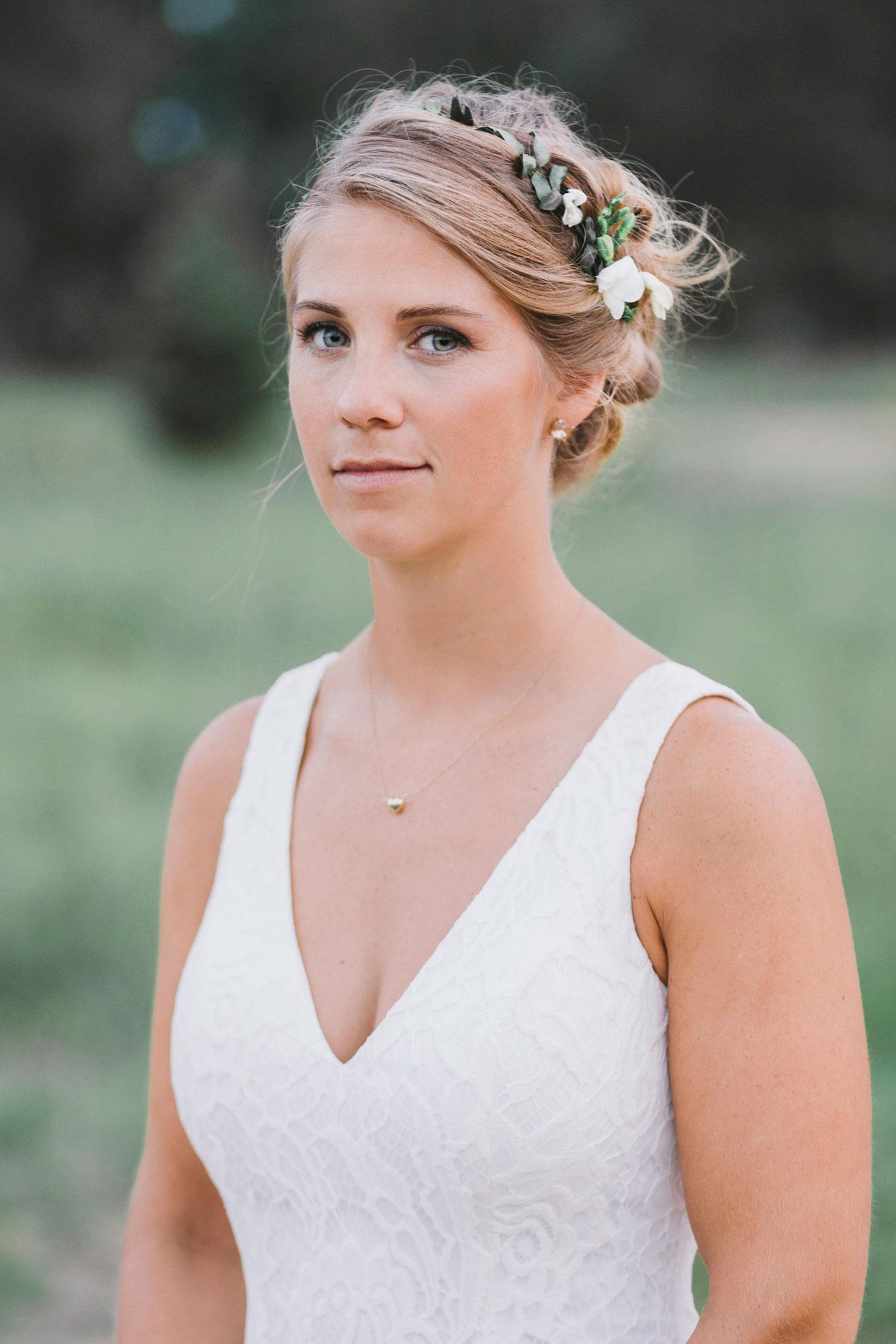 Bride's Portrait at Drysdale's Tree Farm