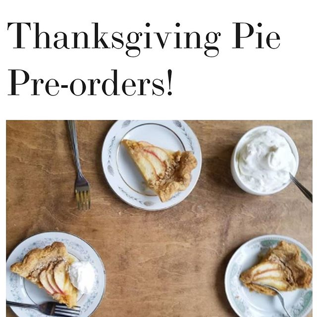 It's that time of year again! Limited quantities of 5 delish desserts to add to your turkey day feast-- link in profile to pre-order!