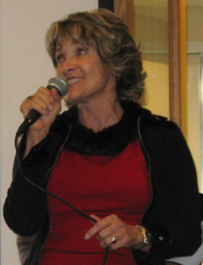 Kathy singing at a local event.