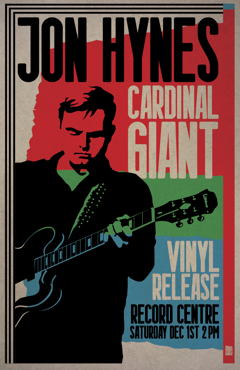 """Record Release 16x24"""" Silk-Screened Poster -"""