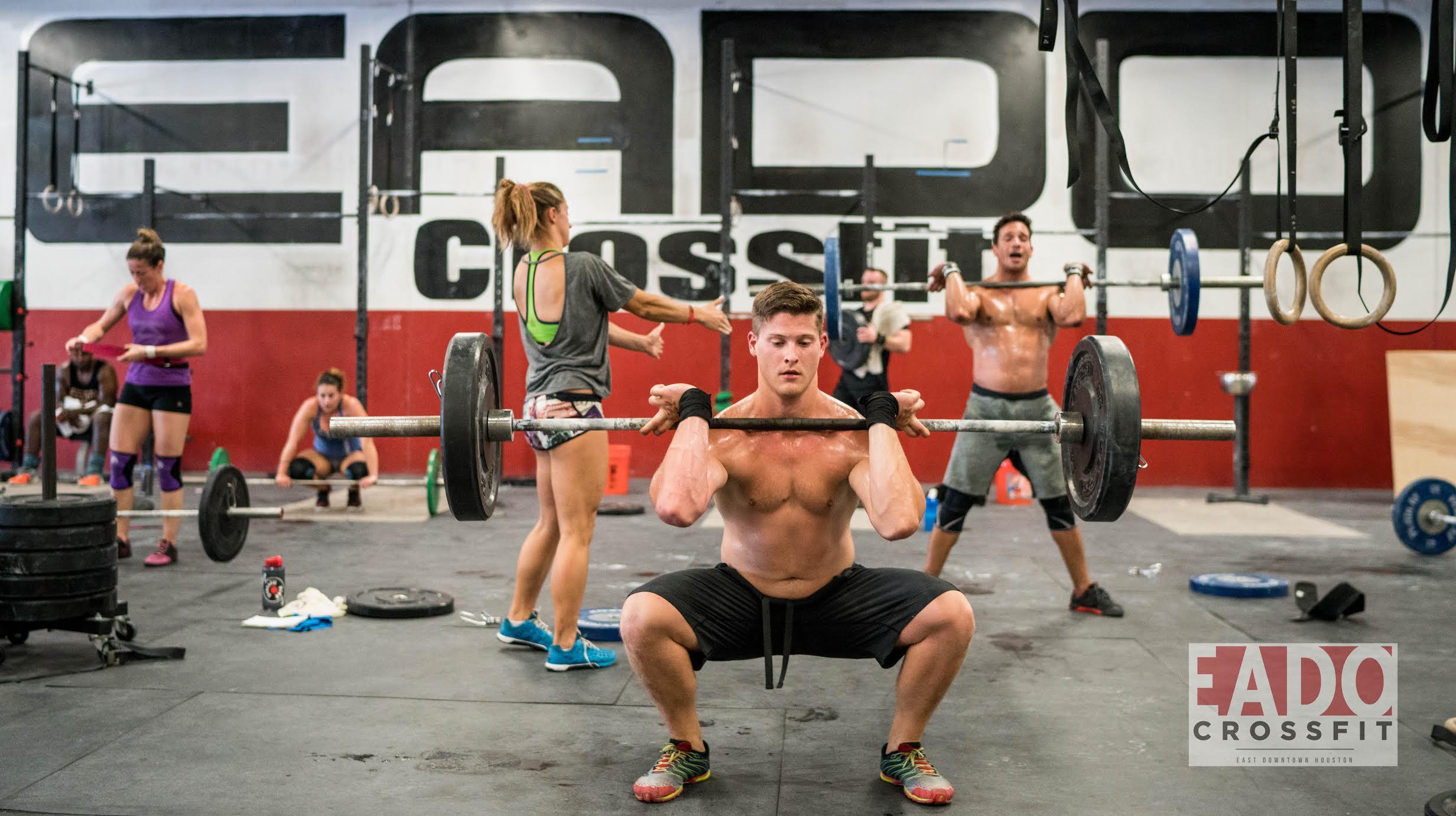 EaDO Elite Athletes Callan and Shane with Coach Jenn.    Photo Credit:  CrossFit Captures   (Sierra Prime)