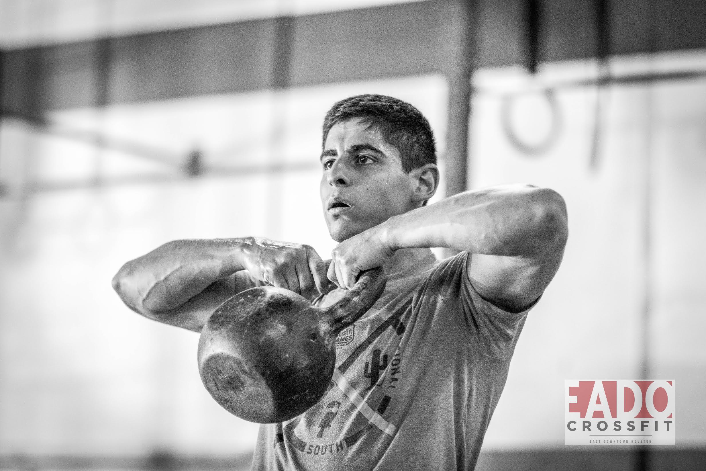 EaDo Elite Athlete Victor Sanchez during yesterdays WOD.  Photo Credit:  Sierra Prime