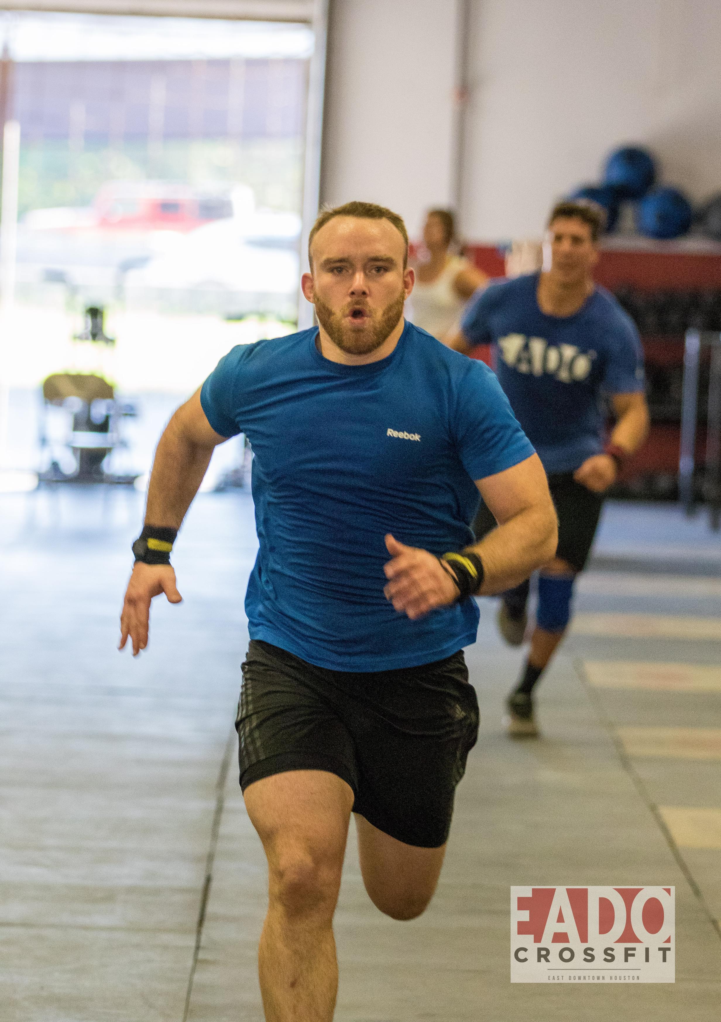EaDo Elite Athlete Rodrigo Salas during last weeks pistol squat sprint skill work.  Photo Credit:  Sierra Prime