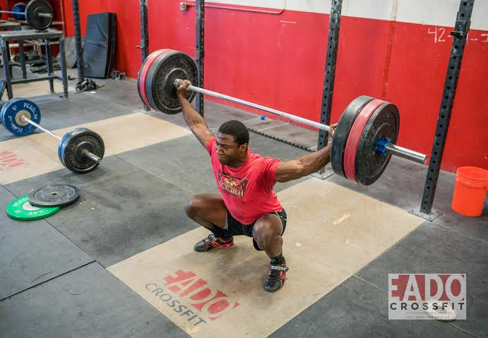 EaDo Elite Athlete Tobi Showunmi snatching 265#  Photo Credit:  Sierra Prime