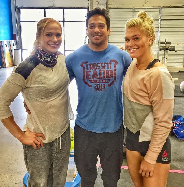 EaDo Elite Athlete and Coach Shane Rojas with Annie Thorisdottir and Katrin Davidsdottir