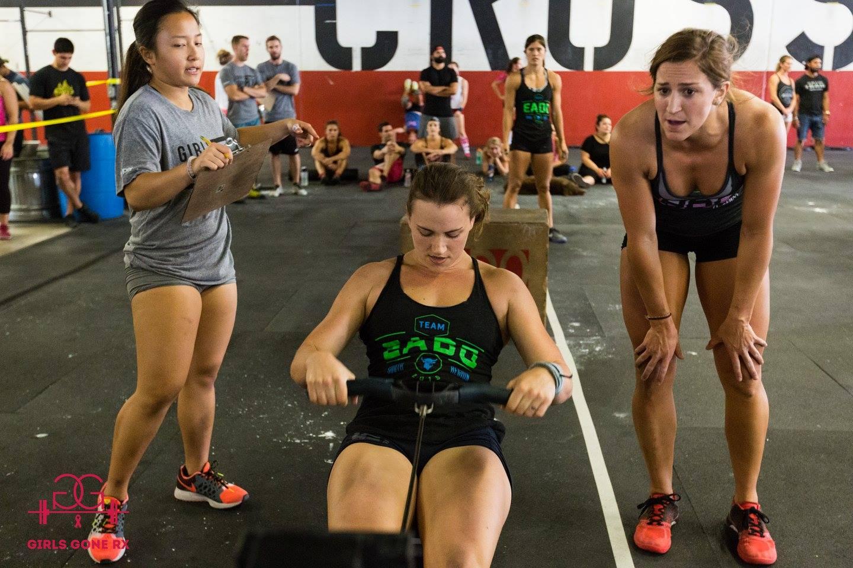 EaDo Elite Athlete Camzin Martin with Teammates Sara Fish and Rhett Chase at Girls Gone RX