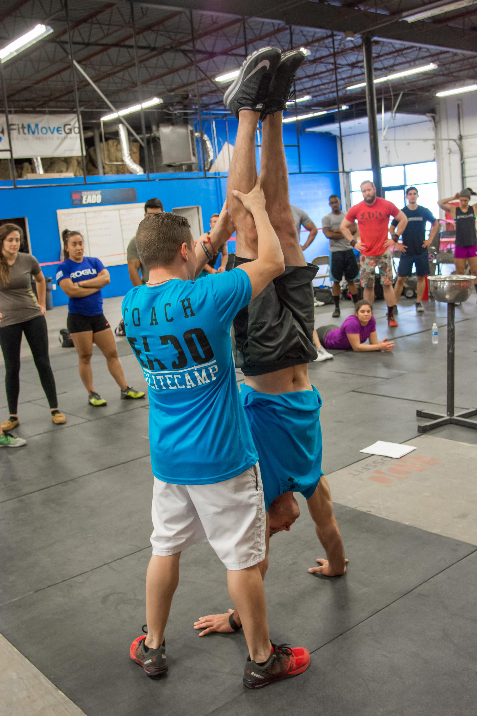 Two time olympic medalist Jonathan Horton and RJ Heflin during the EaDo Elite Athlete Camp    Photo Credit: Morteza Safataj