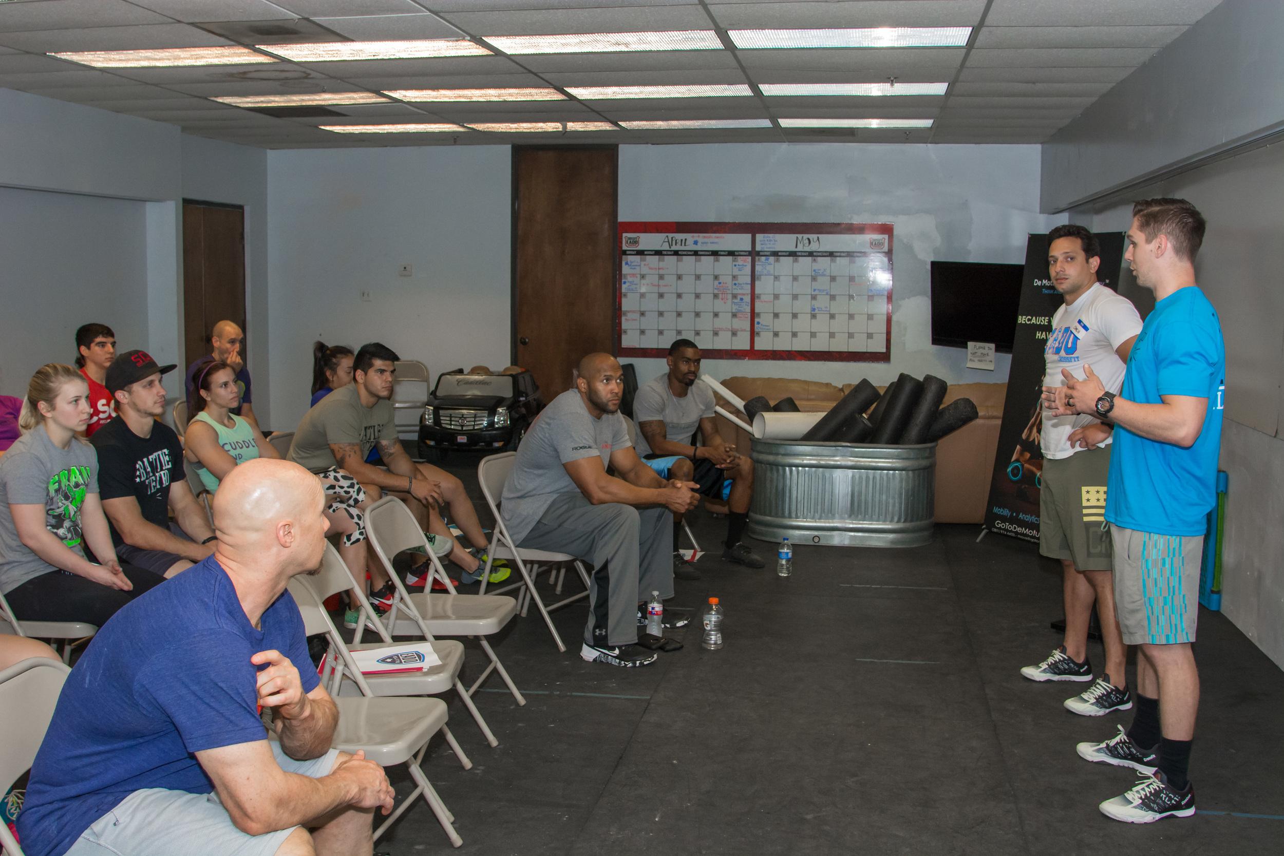 EaDo Elite Program Directors Connor Martin and Shane Rojas discussing programming  Photo Credit: Morteza Safatja
