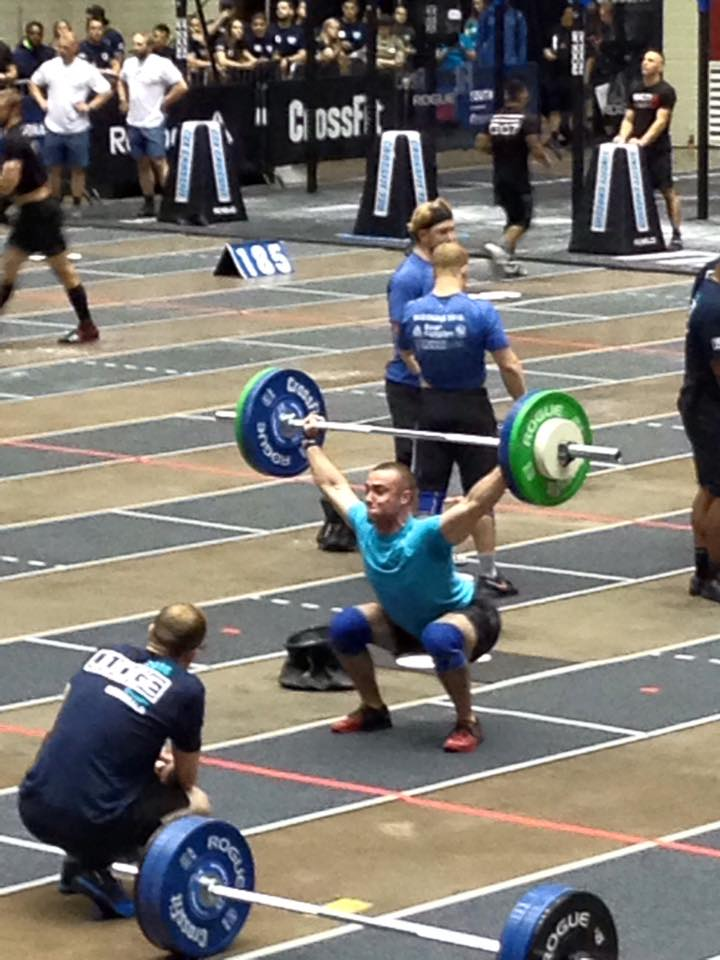 Kevin Snatching during the team snatch ladder at the South Regional. The team went on to take 6th place overall, finishing 1 spot away from the CrossFit Games.