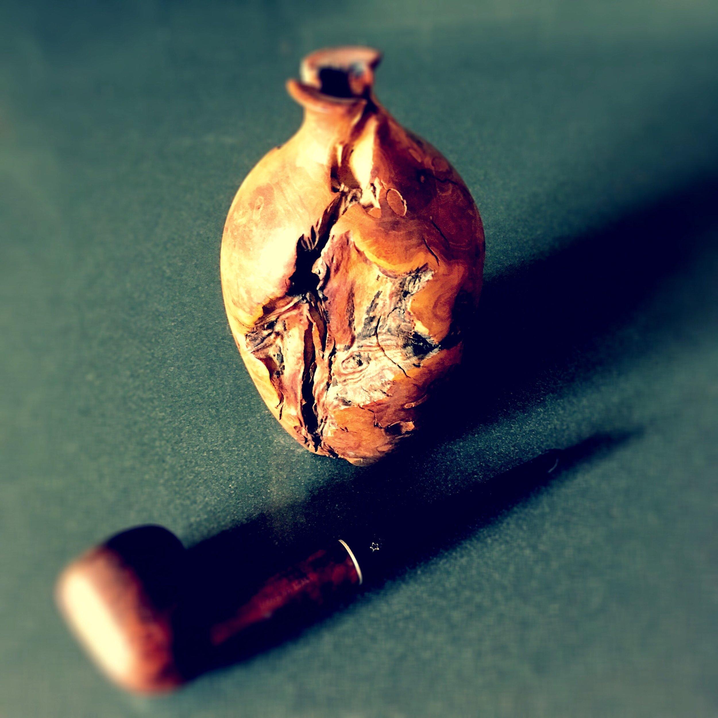 Pipe & Burlwood Vase.jpg