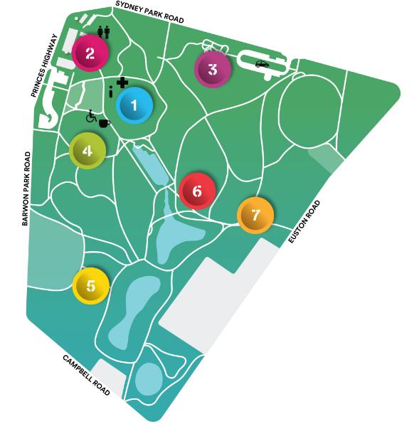 Site Map Sydney park
