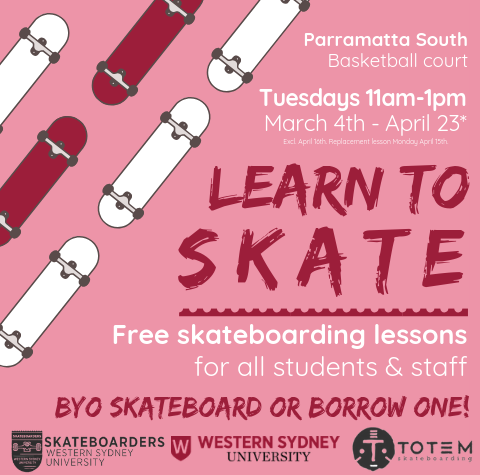 Parra South Skate lessons poster.png