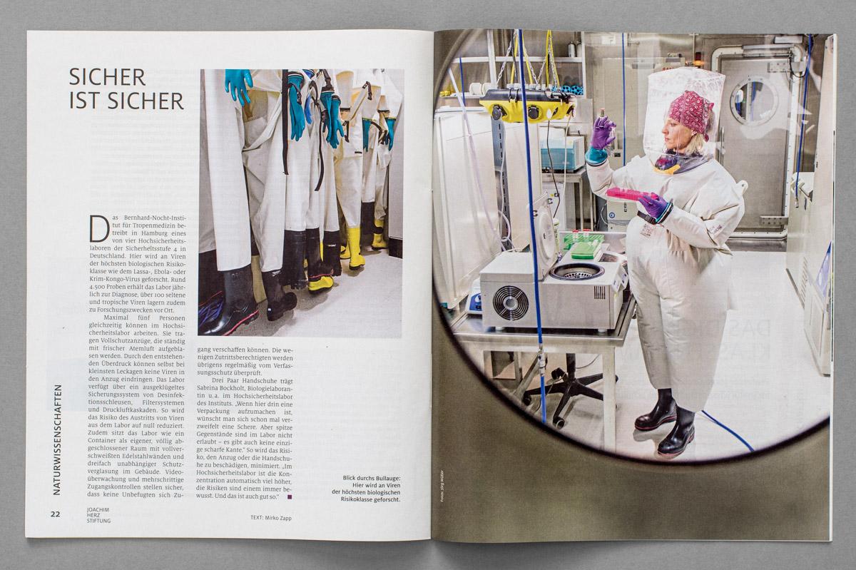 """Beilage der ZEIT, """"Aufbrüche"""" / Magazin der Joachim Herz Stiftung, Bernhard-Nocht-Institut für Tropenmedizin"""