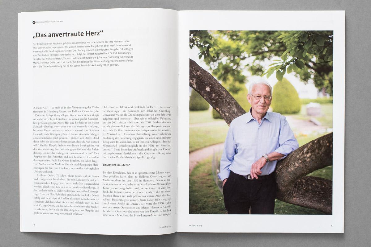 HERZBLATT, Magazin der Deutschen Herzstiftung, Prof. Hellmut Oelert