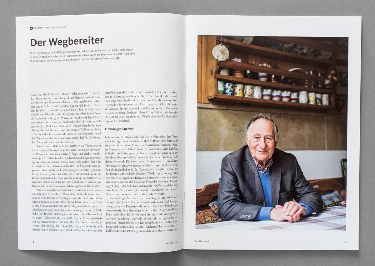 HERZBLATT, Magazin der Deutschen Herzstiftung, Prof. Hans Carlo Kallfelz