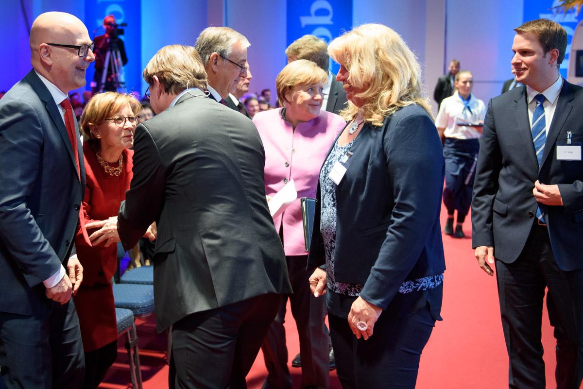 Unternehmerverband Nord, Veranstaltung mit Angela Merkel, Hobby‐Wohnwagenwerk in Fockbek, 2017