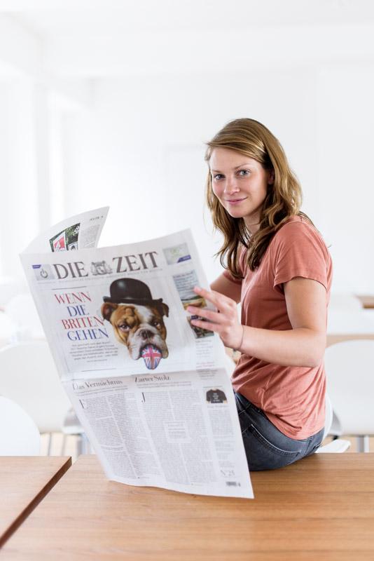 Amrai Coen, ZEIT-Redakteurin - für Medienbroschüre der Stadt Hamburg